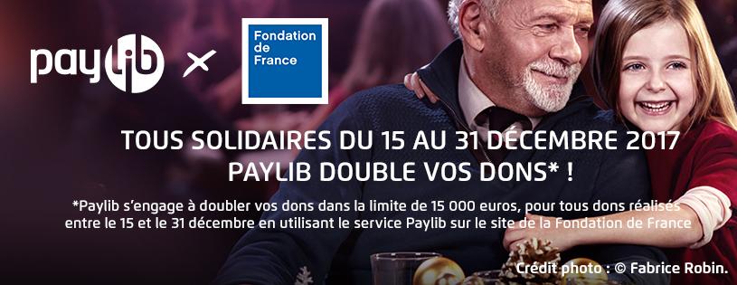 Paylib et la Fondation de France s'associent pour un Noël solidaire