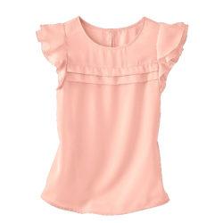 Blancheporte – Blouse volantée rose – A partir de 17,99€