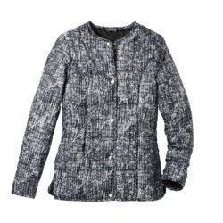 Blancheporte_Doudoune légère imprimé noir et gris– A partir de 41,99 euros_Ref 523269