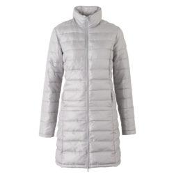 Blancheporte_Doudoune longue gris argenté – A partir de 79,99 euros_ Ref 5553105