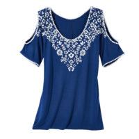Blancheporte – Tee-shirt plastron imprimé – A partir de 19,99€
