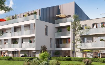 A Templemars, Ramery immobilier pose la première des Terrasses de l'Olympe.