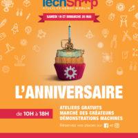 Affiche Anniversaire Techshop