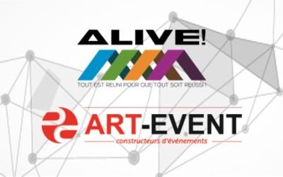 Alive Groupe et Art Event Group se rapprochent pour créer une offre de prestations événementielles multi-services