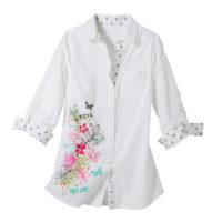 Blancheporte – Chemise à fleurs rose – A partir de 19,99€