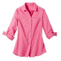 Blancheporte – Chemise bicolore rose – A partir de 19,99€