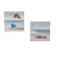 Lot de 2 tableaux toiles bord de mer Becquet sur 3Suisses.fr – 24,90 euros