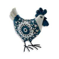 Poule décorative bleue Becquet sur 3Suisses.fr – 19,90 euros