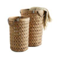 Set 2 paniers tressés métallique, bambou Becquet sur 3Suisses.fr – 119,00 euros
