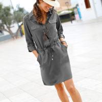 Blancheporte – Robe chemisier taupe – A partir de 37,99€
