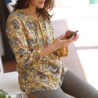 Blancheporte_La blouse imprimée_ A partir de 24.99 euros