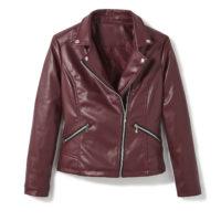 Blancheporte_Le blouson aspect cuir bordeaux_à partir de 59.99 euros