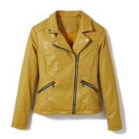Blancheporte_Le blouson aspect cuir moutard_ A partir de 59.99 euros