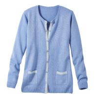 Blancheporte_Le gilet bicolore bleu lavande_A partir de 27.99 euros
