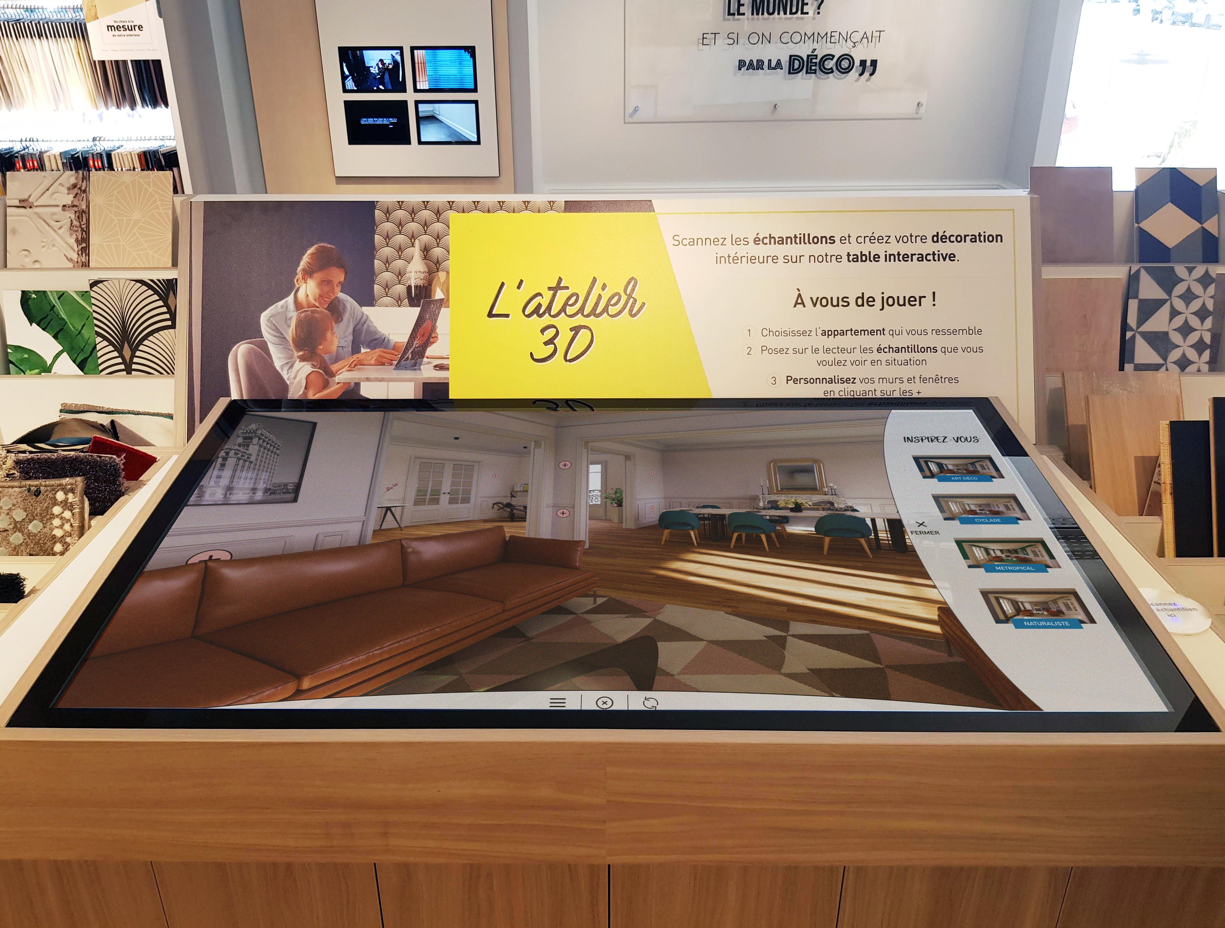 Six mois après son ouverture, le showroom Saint Maclou digitalisé par Taktus affiche un chiffre d'affaires en hausse de 60%
