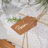 Blancheporte – Lot de 100 étiquettes rectangulaires en papier kraft – 7,99 euros