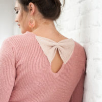 BLANCHEPORTE-PULL AMPLE IRISE A NOEUDS-39,99 EUROS-VUE 1