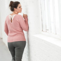 BLANCHEPORTE-PULL AMPLE IRISE A NOEUDS-39,99 EUROS-VUE 2