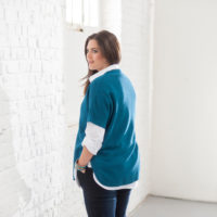 BLANCHEPORTE-PULL MAILLE RELIEFEE BLEU-19,99 EUROS-VUE 2