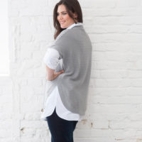 BLANCHEPORTE-PULL MAILLE RELIEFEE GRIS-19,99 EUROS-VUE 3
