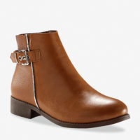 Blancheporte_Boots à boucle effet bi-matière Beige foncé_à partir de 49,99 euros