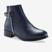 Blancheporte_Boots à boucle effet bi-matière Marine_à partir de 49,99 euros