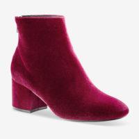 Blancheporte_Boots à talon en velours Bordeaux_à partir de 49,99 euros_1