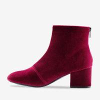 Blancheporte_Boots à talon en velours Bordeaux_à partir de 49,99 euros_2