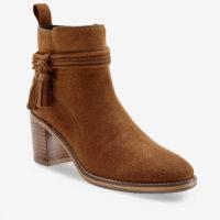 Blancheporte_Boots en cuir velours à pompons Beige foncé_à partir de 79,99 euros_1