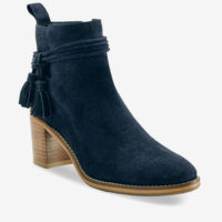 Blancheporte_Boots en cuir velours à pompons Marine_à partir de 79,99 euros_1