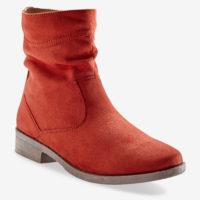 Blancheporte_Boots plates zippées Brique_à partir de 39,99 euros