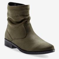 Blancheporte_Boots plates zippées Kaki_à partir de 39,99 euros