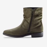 Blancheporte_Boots plates zippées Kaki_à partir de 39,99 euros_2