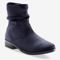 Blancheporte_Boots plates zippées Marine_à partir de 39,99 euros