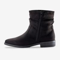 Blancheporte_Boots plates zippées Noir_à partir de 39,99 euros_2