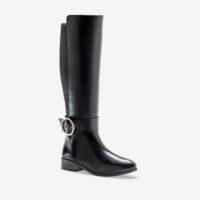 Blancheporte_Bottes cavalières en cuir Noir_à partir de 129,99 euros