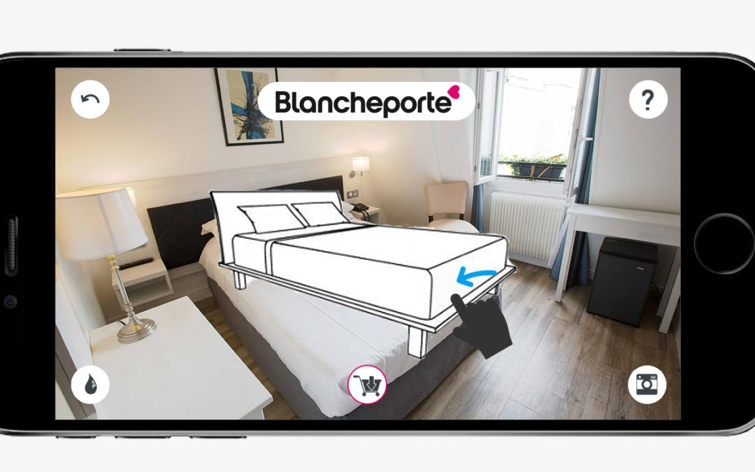Avec la réalité augmentée, Blancheporte met ses clientes dans de beaux draps