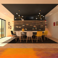 Mural Design MSZ-EF Noir-2 @Mitsubishi Electric