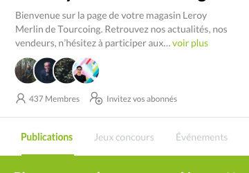 Page app tribu LM