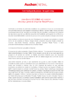 2019_06_13 communiqué de presse Nomination DG Auchan Retail France