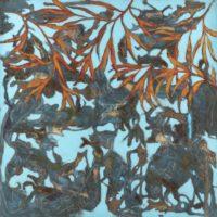Galerie Garnier Delaporte – Pascal Honoré – Les rives, 2019 – Huile, acrylique, fusains, papiers népalais marouflés sur toile, 150 x 150 cm_preview