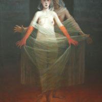 Galerie Thomé – Bertrand Bataille, La femme dévoilée, 2019, Huile sur toile, 92 x 62 cm_preview