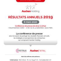 Auchan Holding_Invitation Presse Résultats annuels