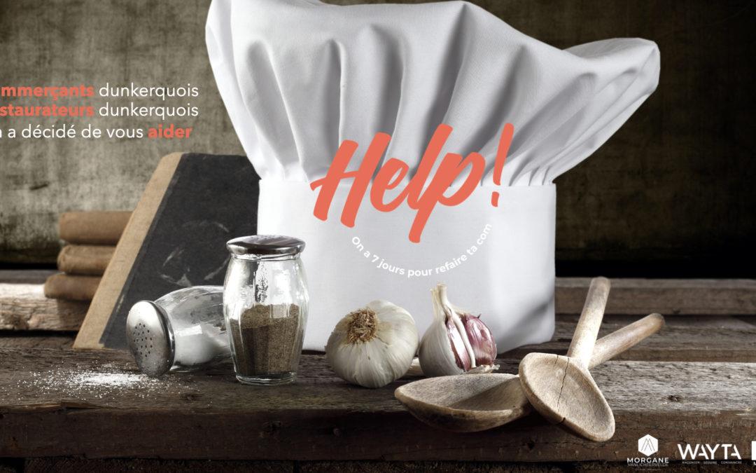 Trois nordistes lancent Help!, une opération solidaire pour accompagner les commerçants et restaurateurs dunkerquois