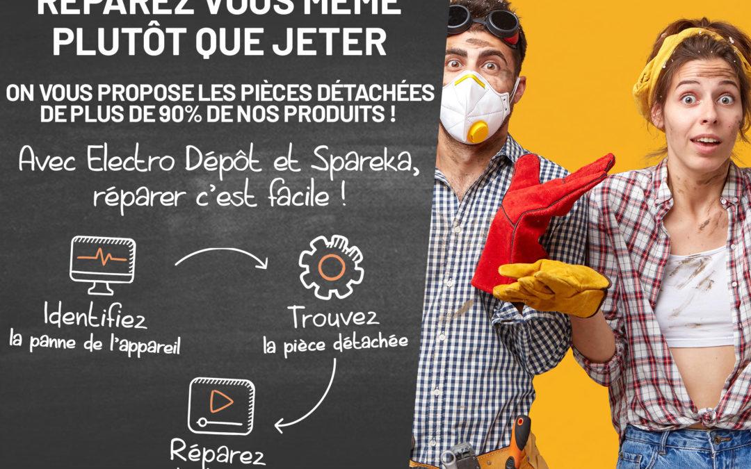 Avec Spareka,, Électro Dépôt prône une autre consommation