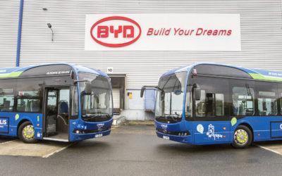 Une flotte de quatre bus BYD 100% électriques à Beauvais assemblés localement par BYD France
