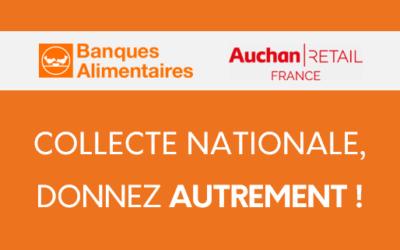 Dès demain, Auchan digitalise la collecte au bénéfice des Banques Alimentaires