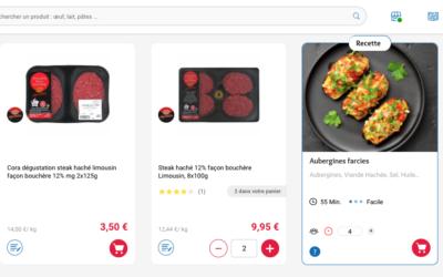 Avec son offre SAAS, Miam équipe Cora.fr d'une plateforme intelligente qui suggère au client ses repas