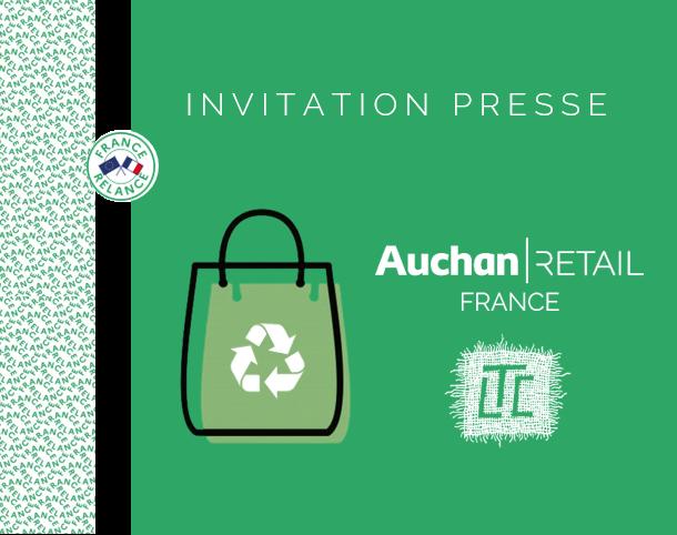 Pour proposer une alternative au sac de courses en plastique, Les Tissages de Charlieu & Auchan Retail France créent une filière française textile d'économie circulaire
