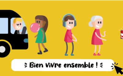 «  Bien vivre ensemble, c'est pourtant pas compliqué ! » – Tadao sensibilise le public aux incivilités.